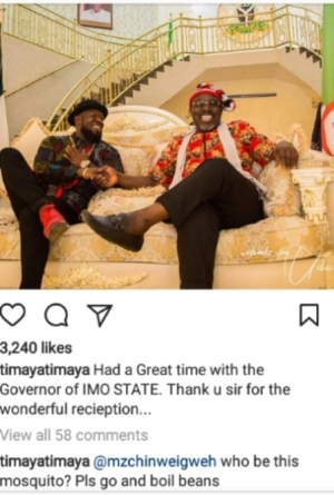 Timaya Blasts Fan Who Tried To Correct Him, See What He Said